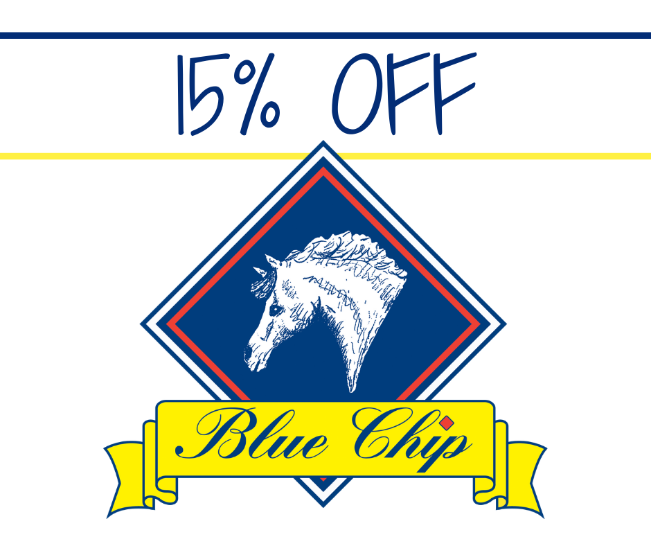 15% OFF WITH BLUE CHIP for Forces Equine Members!