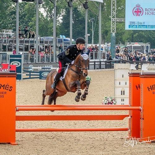 LCoH Richard Raffel and Eros V make the UK Armed Forces Equestrian Team