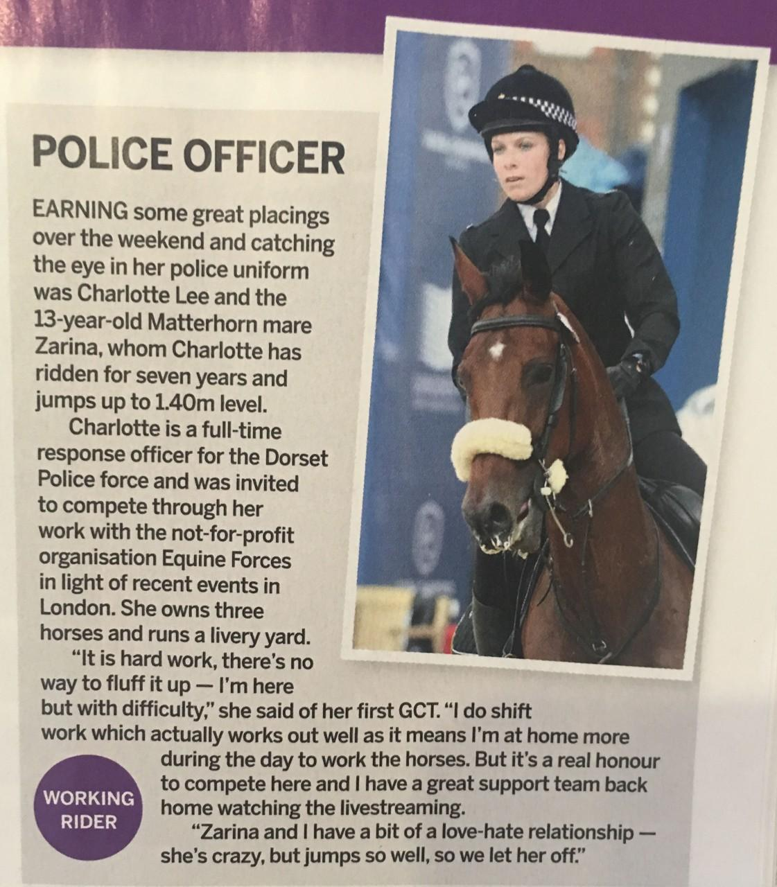 PC Charlotte Lee makes Horse & Hound