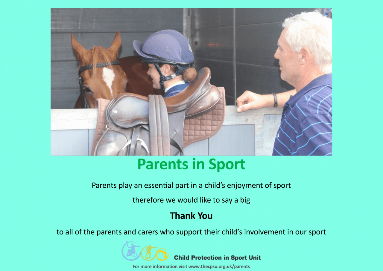 Child Protection in Sport Unit Say Thank you!