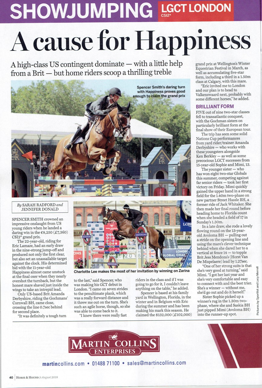 PC Charlotte Lee & Zarina make Horse & Hound