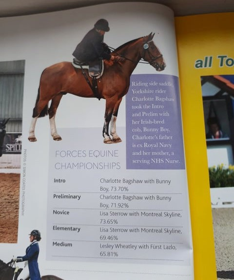 Forces Equine British Dressage Championships make the press again!