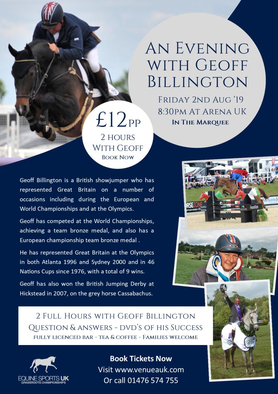 A night with Mr Geoff Billington Forces Equine Ambassador