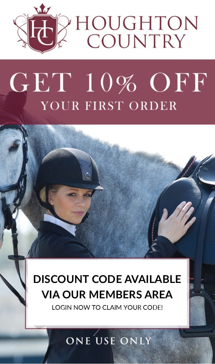 Discount offered to all Forces Equine members on their first shop at Houghton Country.