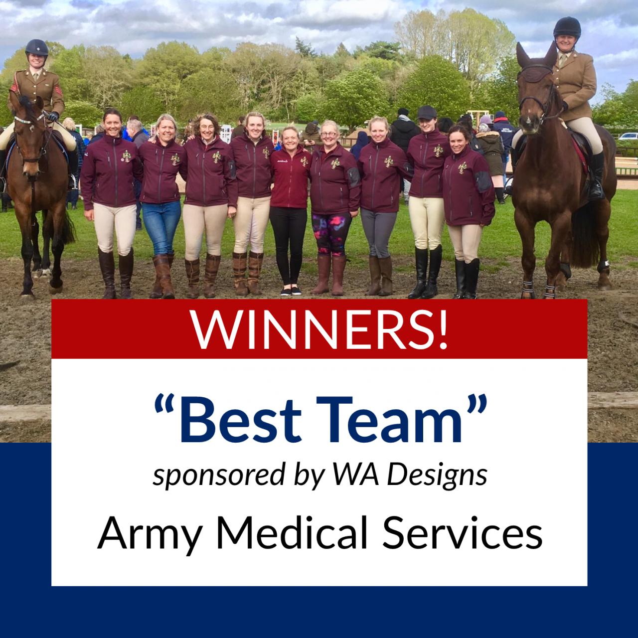 Winner of the Best Team sponsored by WA Designs is......